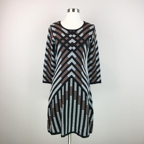 Nine West Dresses & Skirts - Nine West Chevron Sweater Dress Size XS